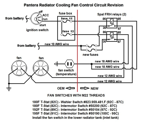 Pantera fan wiring revision