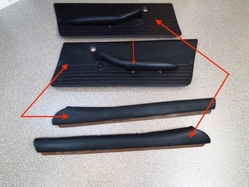 armrests and door panels (made of 2 pieces)