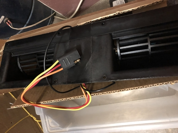 Replacement fan unit wiring