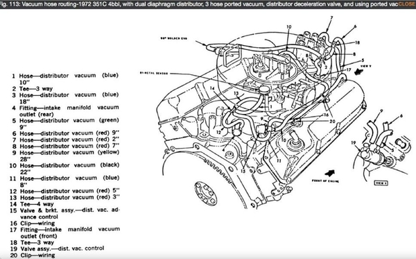 information sought concerning the oem vacuum hose routing ford 302 engine schematic