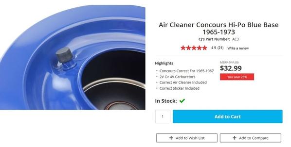 hi po air cleaner
