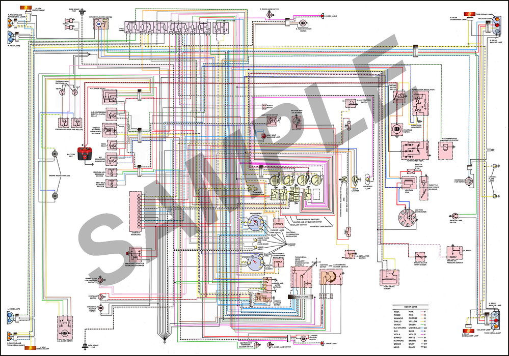 Colorized Wiring Diagram