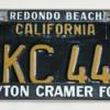 Torrance-California-Peyton-Cramer-Lincoln-Mercury-Vintage-License2