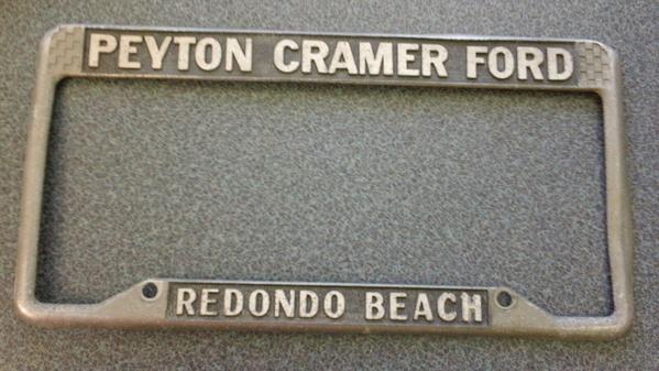 Torrance-California-Peyton-Cramer-Lincoln-Mercury-Vintage-License3